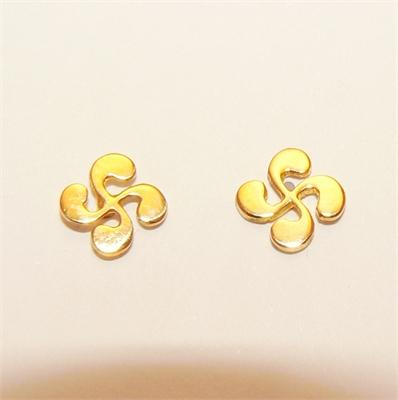 Boucles d'oreilles croix basque MM