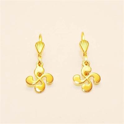 Boucles d'oreilles croix basque