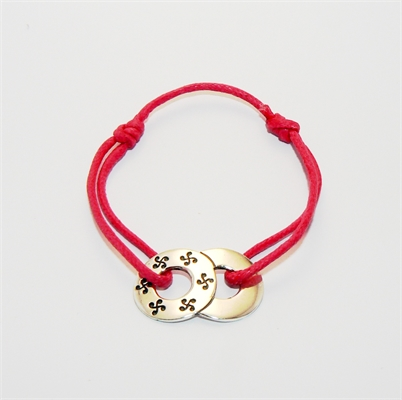 Bracelet double cible Fuschia