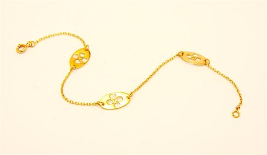 Bracelet ovale découpé