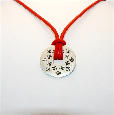 Collier cordon rouge