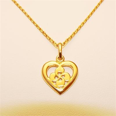 Pedentif coeur croix basque