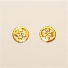 Boucles d'oreilles croix basque cerclée