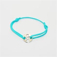 Bracelet cible ronde repercée turquoise
