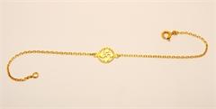 Bracelet croix basque tressée