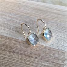 Boucles d'oreilles pierre naturelle Green Amethyste