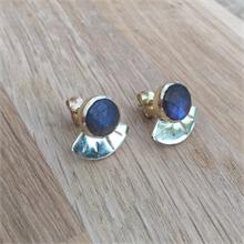 Boucles d'oreilles pierre naturelle Labradorite