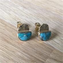 Boucles d'oreilles pierre naturelle Turquoise