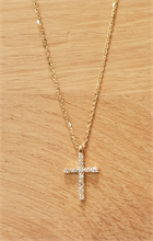 COLLIER CROIX DIAMANT OR JAUNE