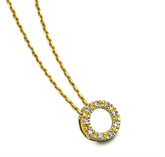Collier cercle diamanté