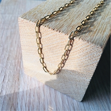 COLLIER MAILLE RECTANGLE FINE