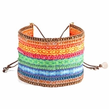 PROMOTION - 50 % - BRACELET MISHKY COLLAGE GREEN BLUE ORANGE BIG