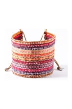 PROMOTION -50 % - BRACELET MISHKY COLLAGE FUSCIA BIG